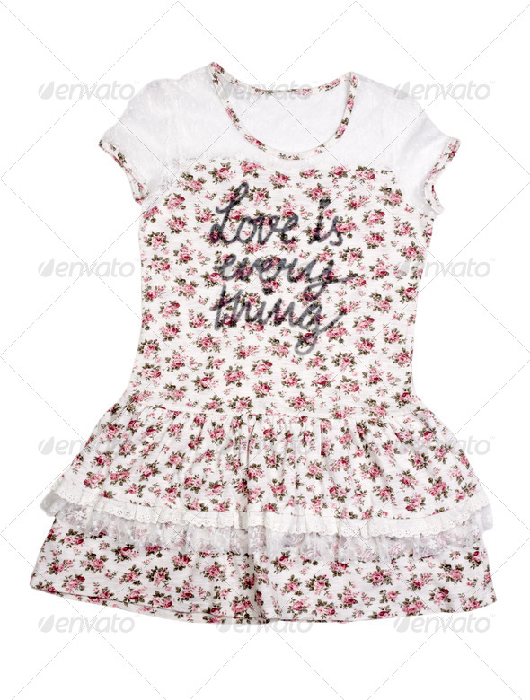 Womens summer dress with floral pattern. - Stock Photo - Images