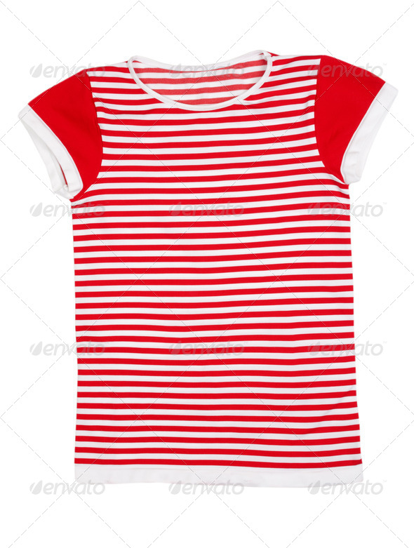 Red and white striped sport shirt - Stock Photo - Images