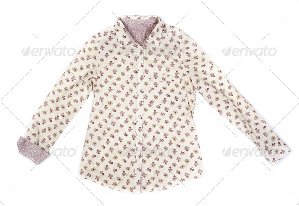 Fashionable women's blouse in bright colors. - Stock Photo - Images