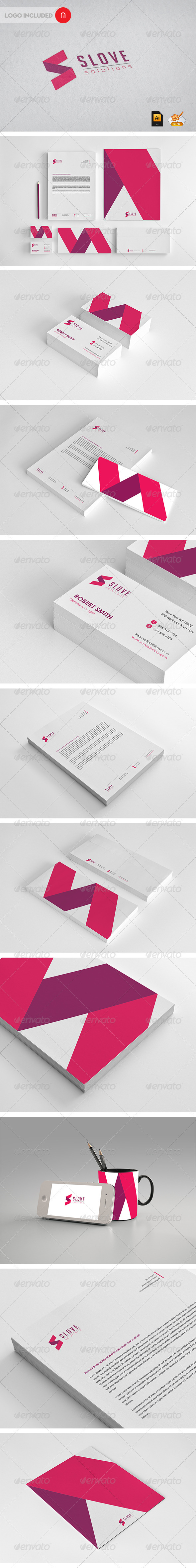 Stationary & Identity - Slove solutions - Stationery Print Templates