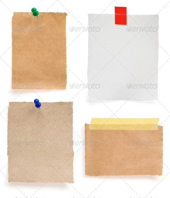 ragged note paper - Stock Photo - Images