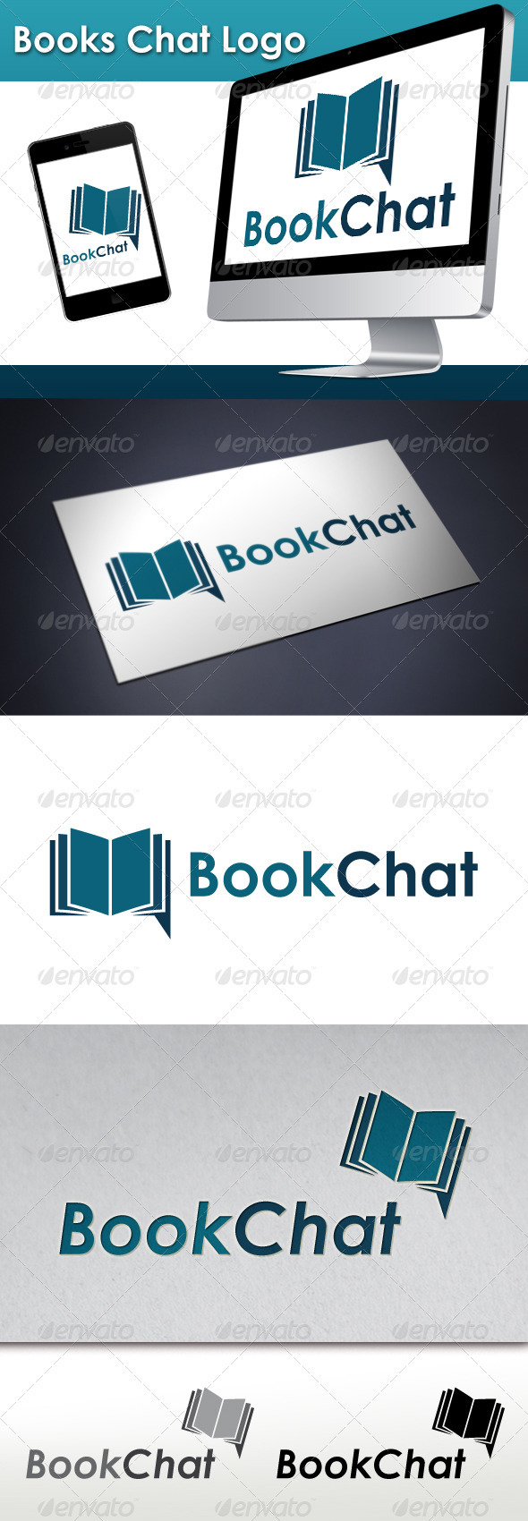 Books Chat Logo - Objects Logo Templates