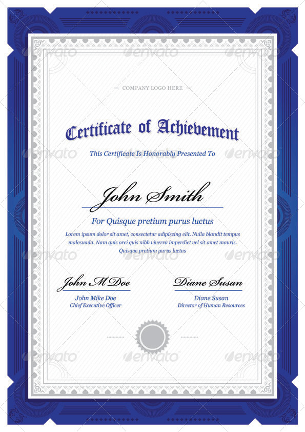 Modern classy diploma award certificate by bnrcreativelab for Certificate template word portrait