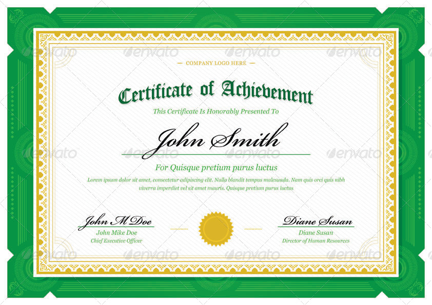 Training Certificate Template Download Training Certificate