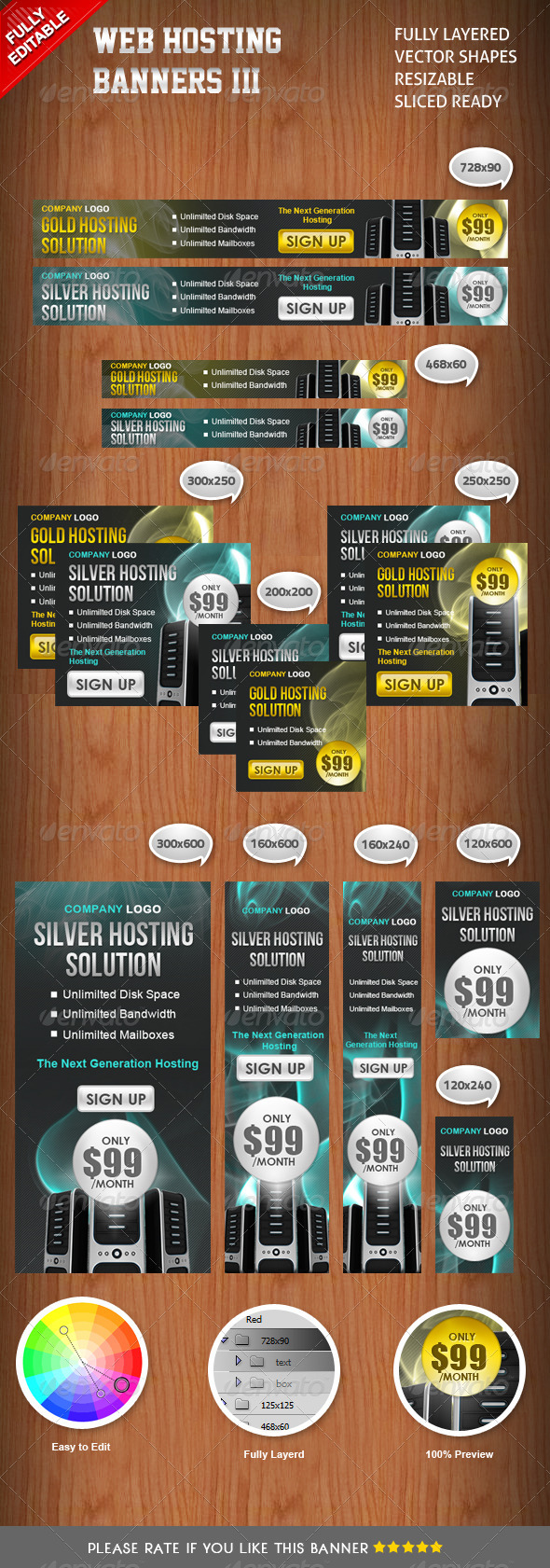 Banners Hosting III - Banners & Ads Web Elements