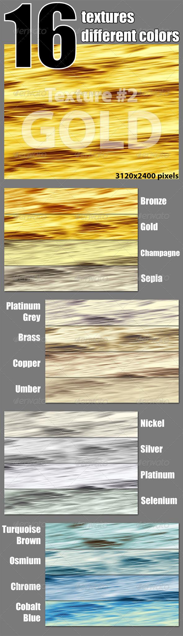 16 Textures of Metallic Hues - Metal Textures