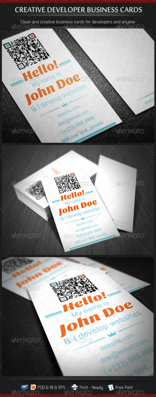 Creative Developer Business Cards - Creative Business Cards