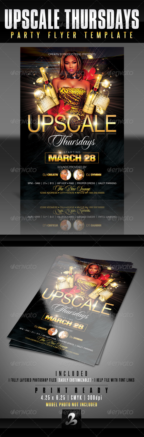 Upscale Party Flyer Template - Clubs & Parties Events