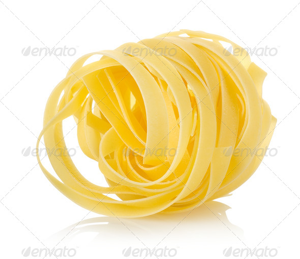 Pasta tagliatelle - Stock Photo - Images