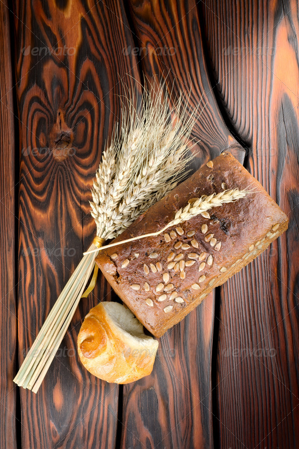Rye bread and wheat - Stock Photo - Images