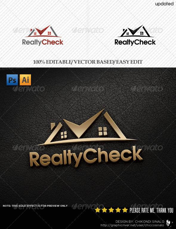 Realty Check Logo Template - Buildings Logo Templates
