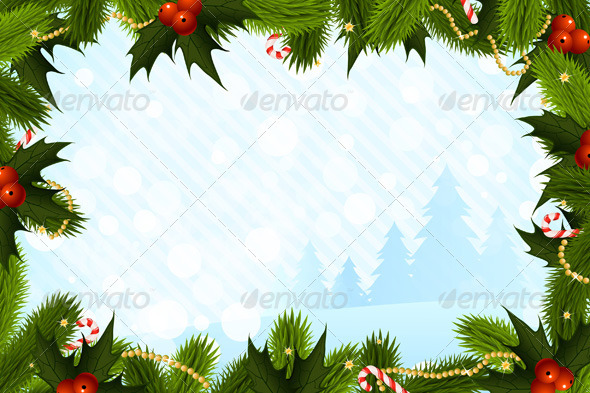 Christmas Card Template By VVaD GraphicRiver - Christmas postcard template