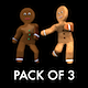 Gingerbread Dancers - Pack of 3 - VideoHive Item for Sale