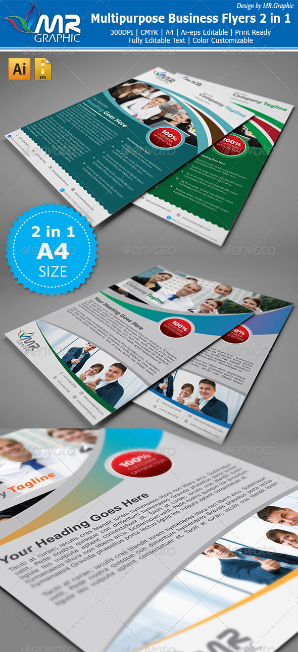 Multipurpose Business Flyer 2 in 1 - Corporate Flyers