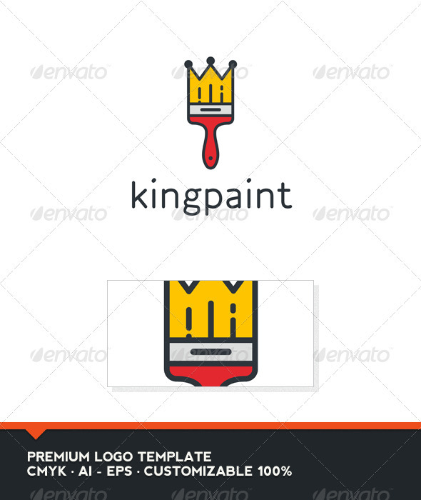 King Paint Logo Template - Objects Logo Templates