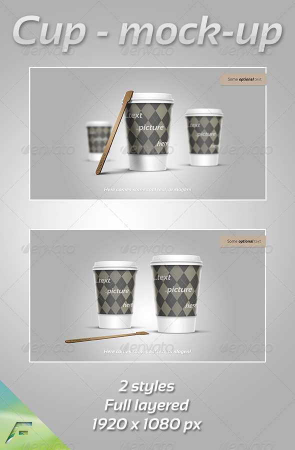 Cup - Mock-Up - Food and Drink Packaging