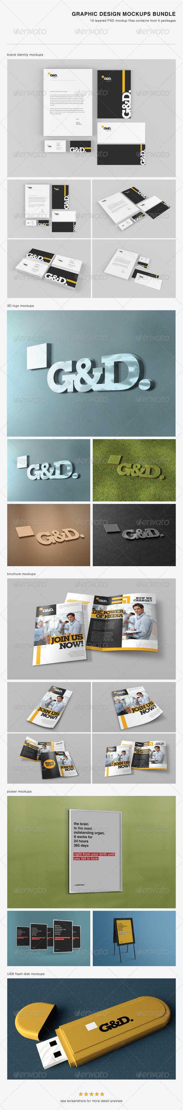 Graphic Design Mock-up Bundle - Stationery Print