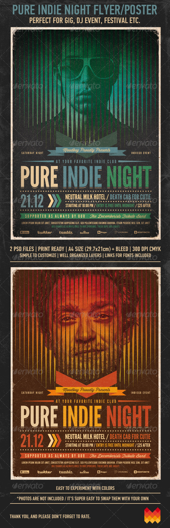 Pure Indie Night Flyer / Poster - Events Flyers