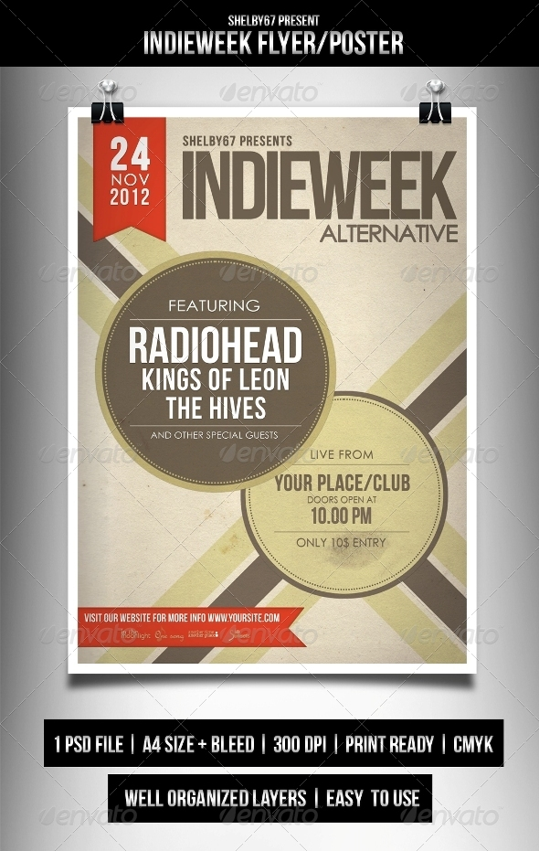 Indieweek Flyer / Poster - Events Flyers