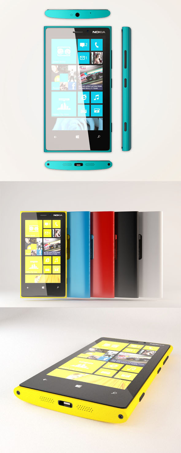Nokia Lumia 920  - 3DOcean Item for Sale