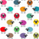 Colorful Seamless Sheep Pattern - GraphicRiver Item for Sale