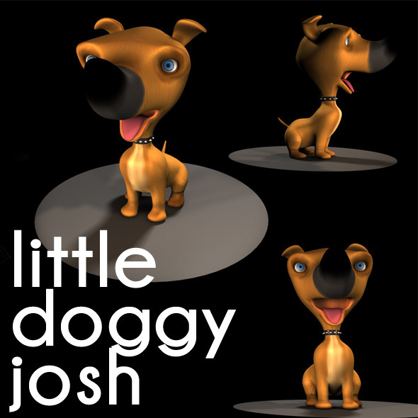 little cute  doggy josh - 3DOcean Item for Sale