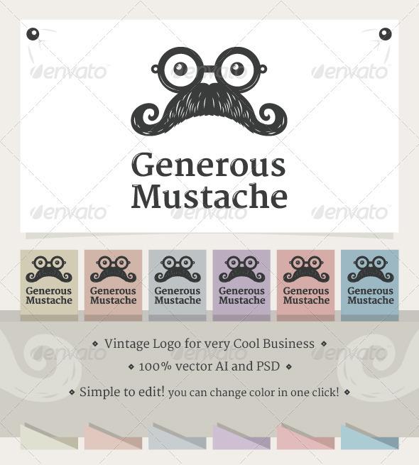 Generous Mustache - Humans Logo Templates