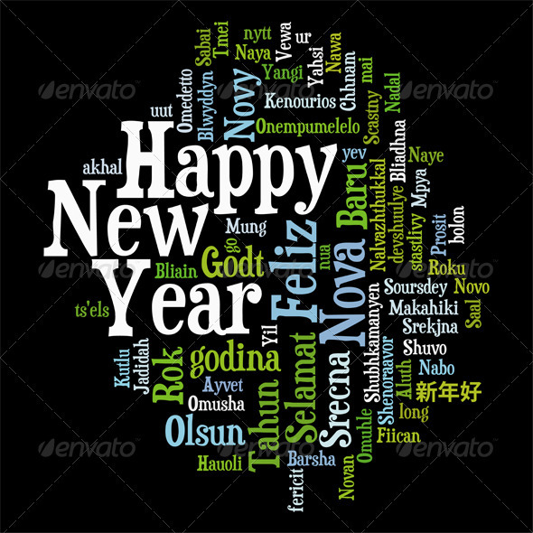 New Year Tag Cloud - New Year Seasons/Holidays