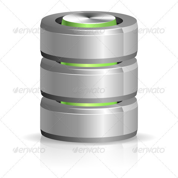 Database and Hard Disk Icon - Computers Technology