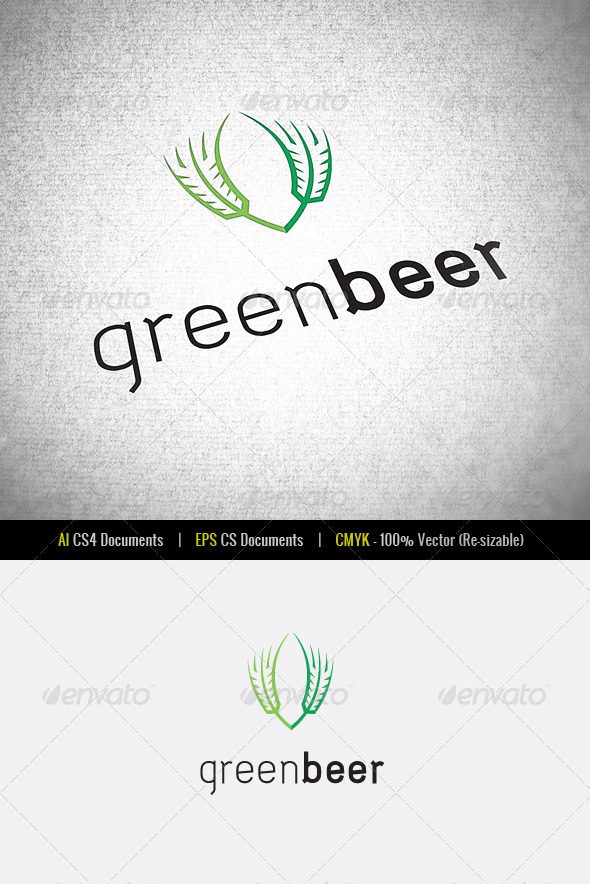 Green Beer | Logo Template - Food Logo Templates