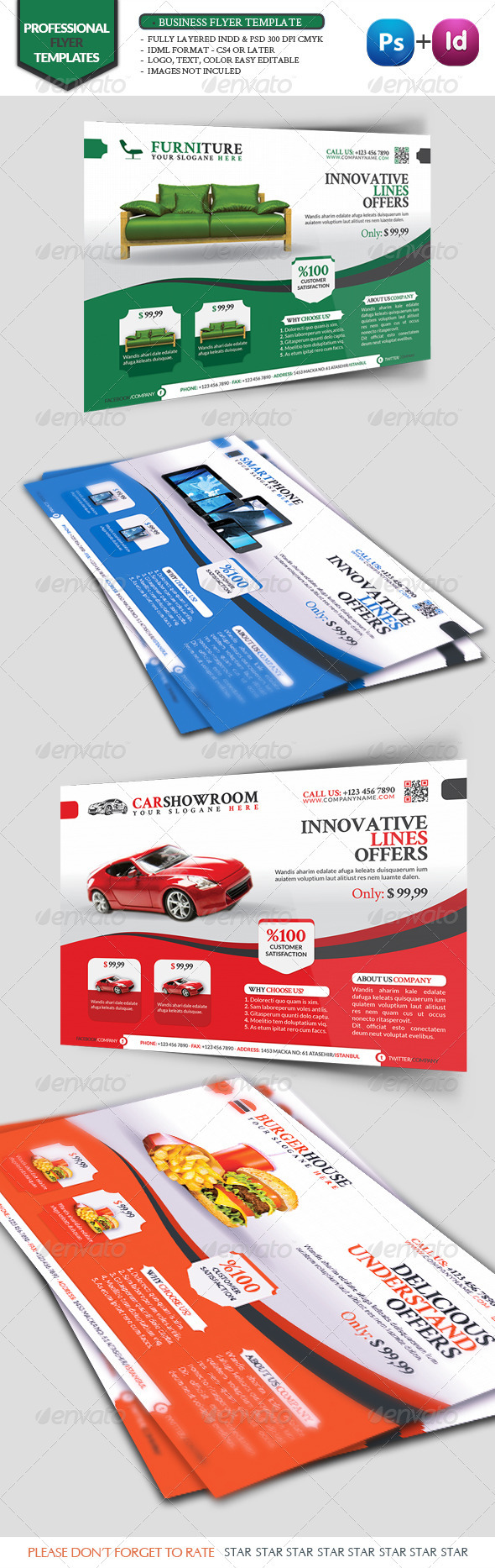 Business Flyer Template Vol10 - Corporate Flyers