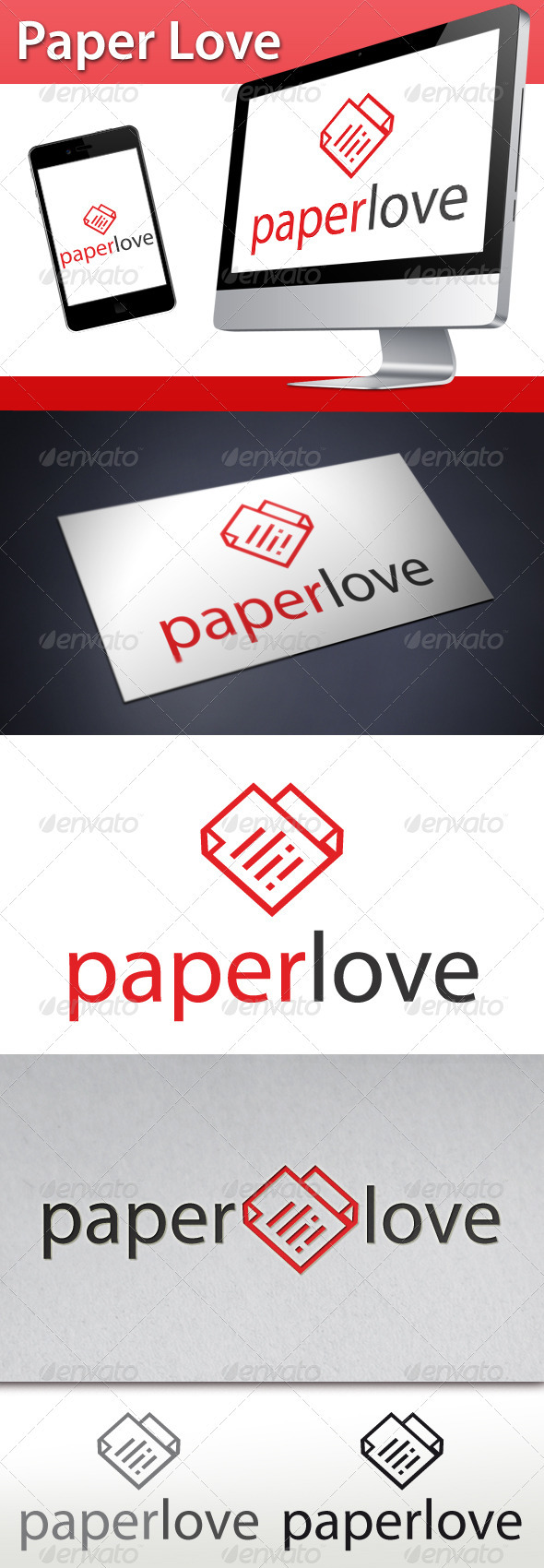 Love Paper Logo - Letters Logo Templates