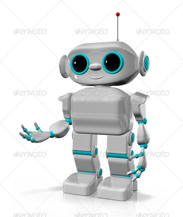 Cheerful Robot - Technology 3D Renders
