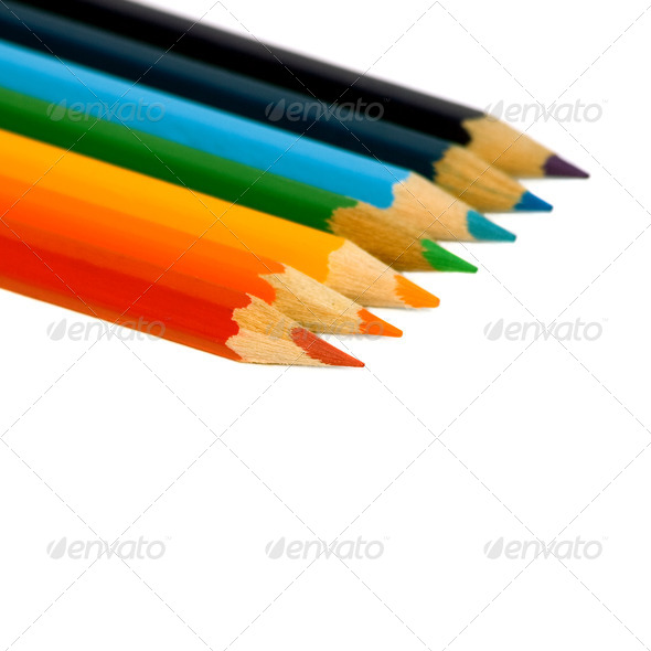 Color pencil. - Stock Photo - Images