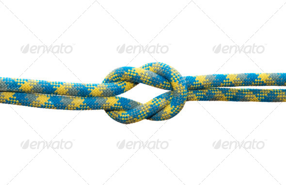 Straight sea knot. Isolated on white background. - Stock Photo - Images