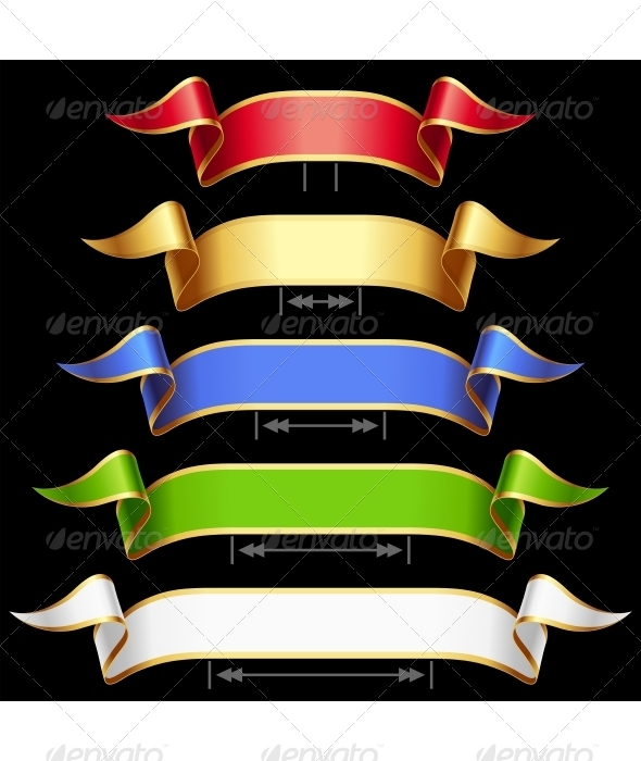 Ribbon Set with Adjusting Length - Decorative Vectors