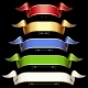 Ribbon Set with Adjusting Length - GraphicRiver Item for Sale