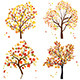 Set of Four Autumn Trees - GraphicRiver Item for Sale