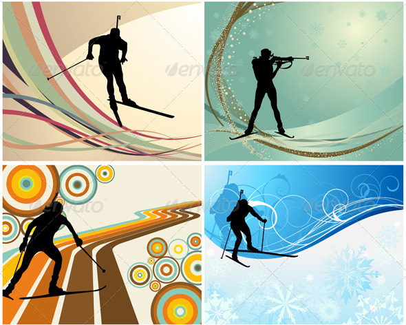 Biathlon Set - Sports/Activity Conceptual