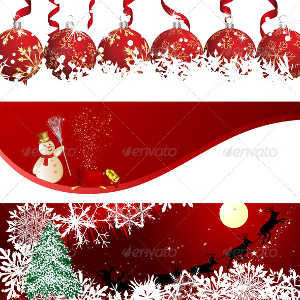 Christmas Banner Set - Christmas Seasons/Holidays