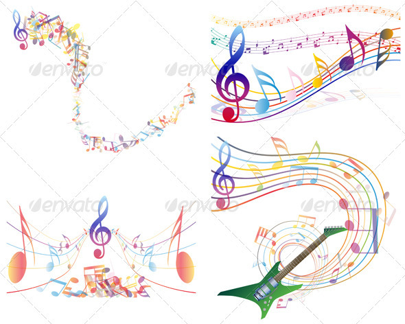 Multicolour  Musical Set - Miscellaneous Vectors