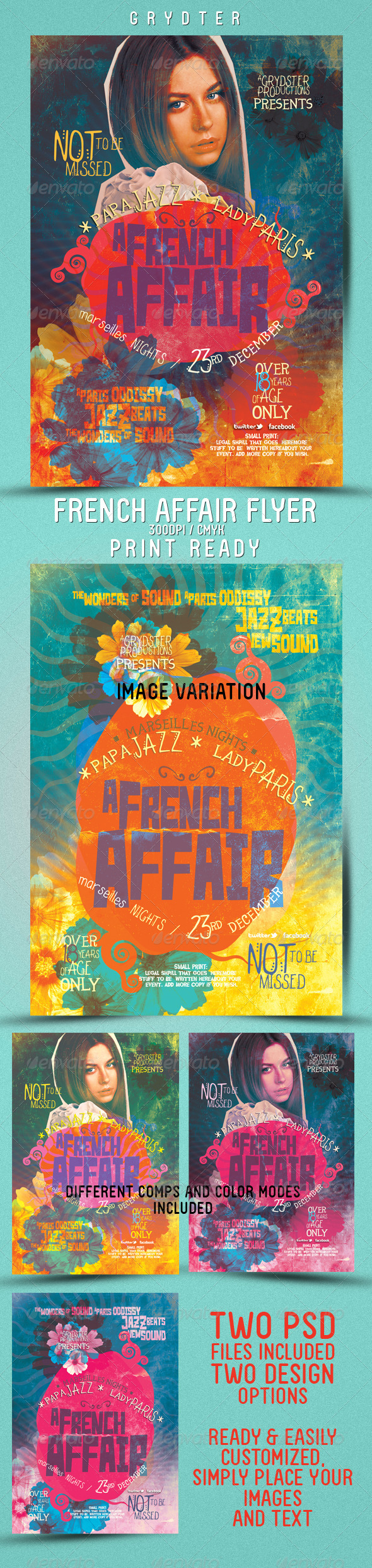 French Affair Flyer - Events Flyers