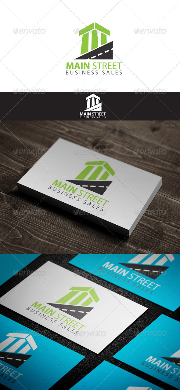 Main Street - Buildings Logo Templates
