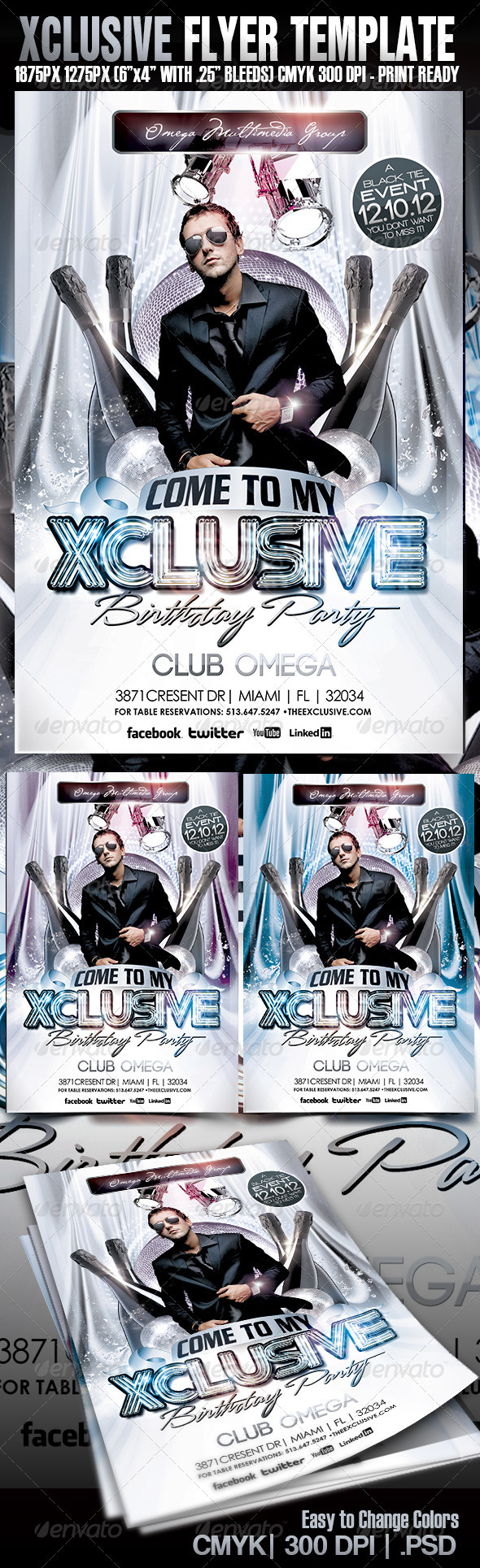 Xcluive Birthday Party - Events Flyers