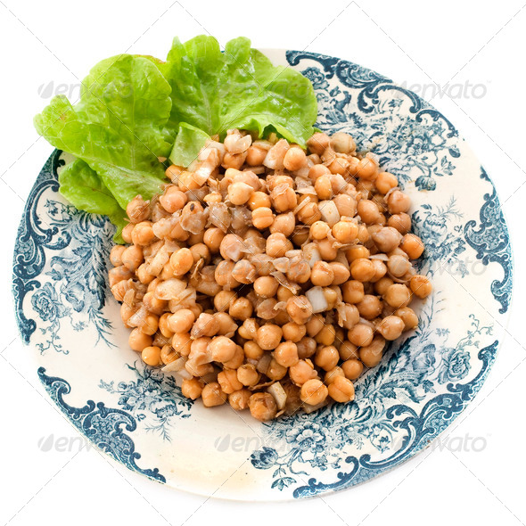 salad of Chickpea - Stock Photo - Images