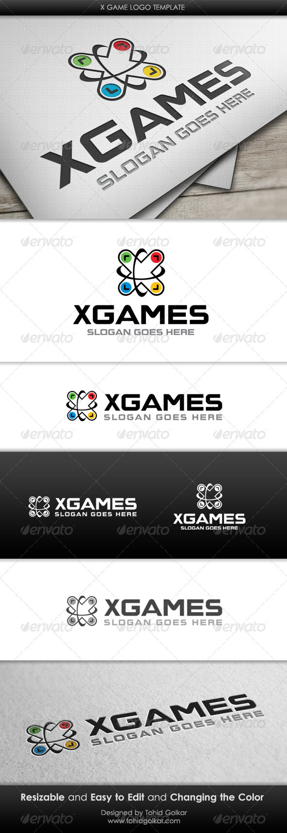 x Game Logo Template