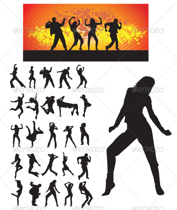 Dancer Silhouette - People Characters