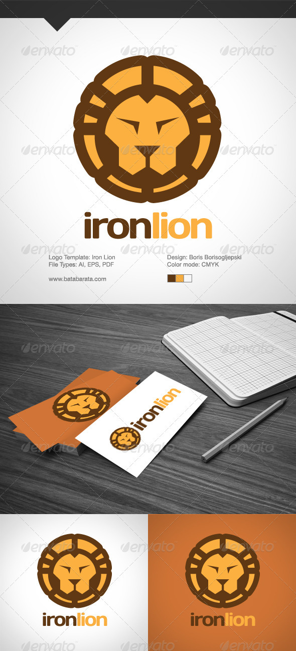 Iron Lion - Animals Logo Templates