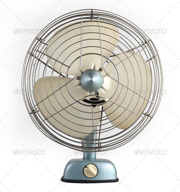 vintage fan - Stock Photo - Images