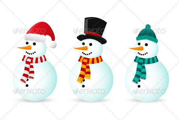 Snowmen - Christmas Seasons/Holidays